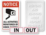 Glass Door Labels & Signs