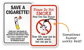 Funny No Smoking Signs | Humorous No Smoking Signs