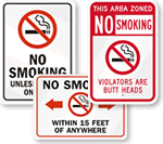 Funny No Smoking Signs   Humorous No Smoking Signs