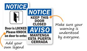 Keep Door Closed Signs & Do Not Prop Door Open Signs