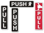 Push Pull Glass Door Decals
