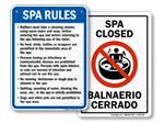 Spa and Hot Tub Signs