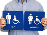 Braille Restroom Signs