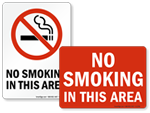 Do Not Smoke in this Area Signs