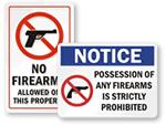 Wisconsin Concealed Gun Signs