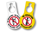 No Soliciting Door Hangers