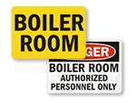 Boiler Room Signs