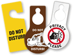 Do Not Disturb Door Tags