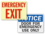 Emergency Door Signs