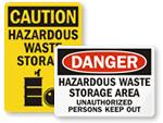 Hazardous Storage Area Signs