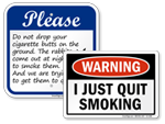 Funny No Smoking Signs | Humorous No Smoking Signs