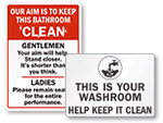 Keep Restroom Clean Signs
