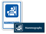 Mammography Door Signs