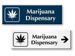 Marijuana Dispensary Door Signs