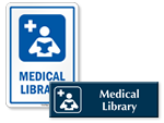 Medical Library Door Signs