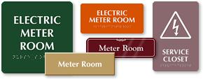 Meter Room Signs