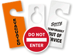 More In-Stock Plastic Door Hangers