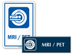 MRI / PET Door Signs
