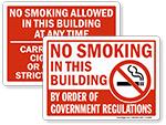 Facility No Smoking Signs