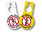 No Soliciting Door Hangers