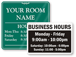 Office Hour Signs