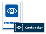 Ophthalmology Door Signs
