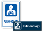 Pulmonology Door Signs