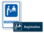 Registration Door Signs