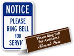 Ring Bell Signs