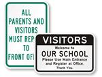 School Visitors Signs