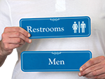 ShowCase Restroom Signs