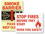 Smoke Barrier Sign