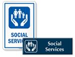 Social Services Door Signs