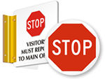STOP Signs for Doors & Floor