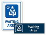 Waiting Area Door Signs