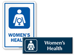 Women's Health Door Signs