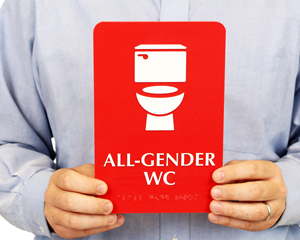 All-Gender Bathroom & Toilet Signs