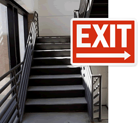 Arrow Exit Signs