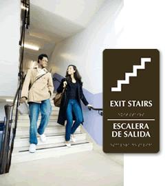 Bilingual Exit Signs