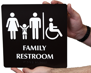 Family Restroom Signs