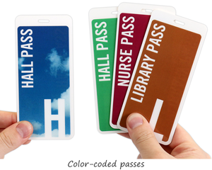 Color coded hall passes