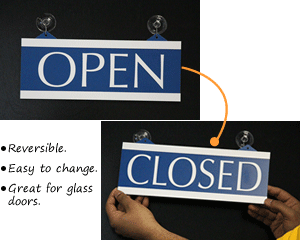 Open and Closed Reversible Signs