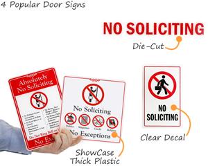 No soliciting door signs