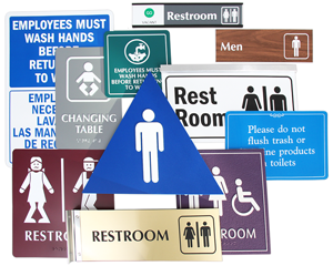 Huge Range of Restroom Signs