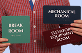 Braille Room Signs