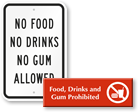 No Chewing Gum Signs