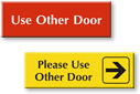 Use Other Door Signs