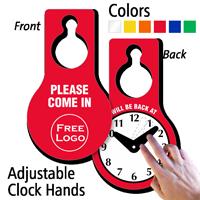 Custom Logo Hang Tag with Be Back Clock