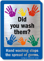 Did You Wash Them, Wash Hands Mirror Decal