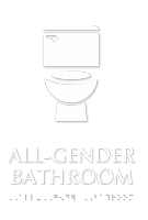 All-Gender Bathroom TactileTouch Restroom Sign with Braille